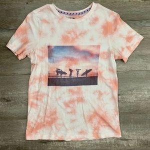 Tie Dye Surf Graphic T-Shirt
